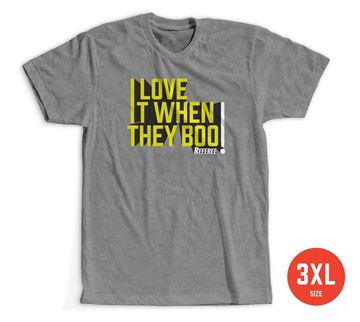 Size 3XL: I Love it When They Boo T-shirt 100% Cotton