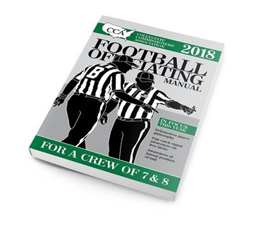 2018 CCA Crew Of 7 & 8 College Football Officiating Manual