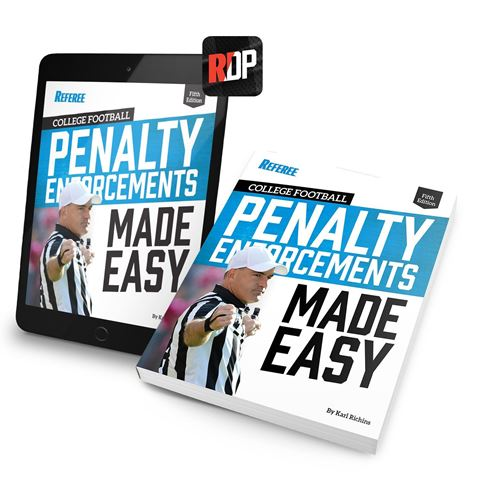 College Football Penalty Enforcements Made Easy- 5th Edition- Print + Digital Combo