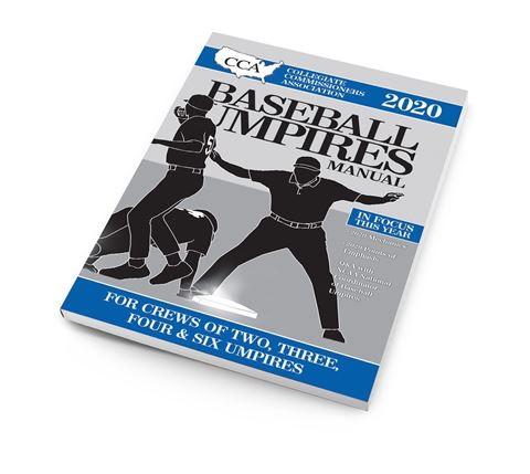 2020 CCA Baseball Umpires Manual