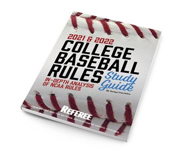 2021-22 Study Guide College Baseball Rules